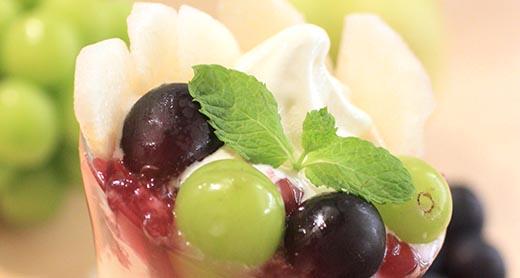 【期間限定】3周年★梨とぶどうのパフェ