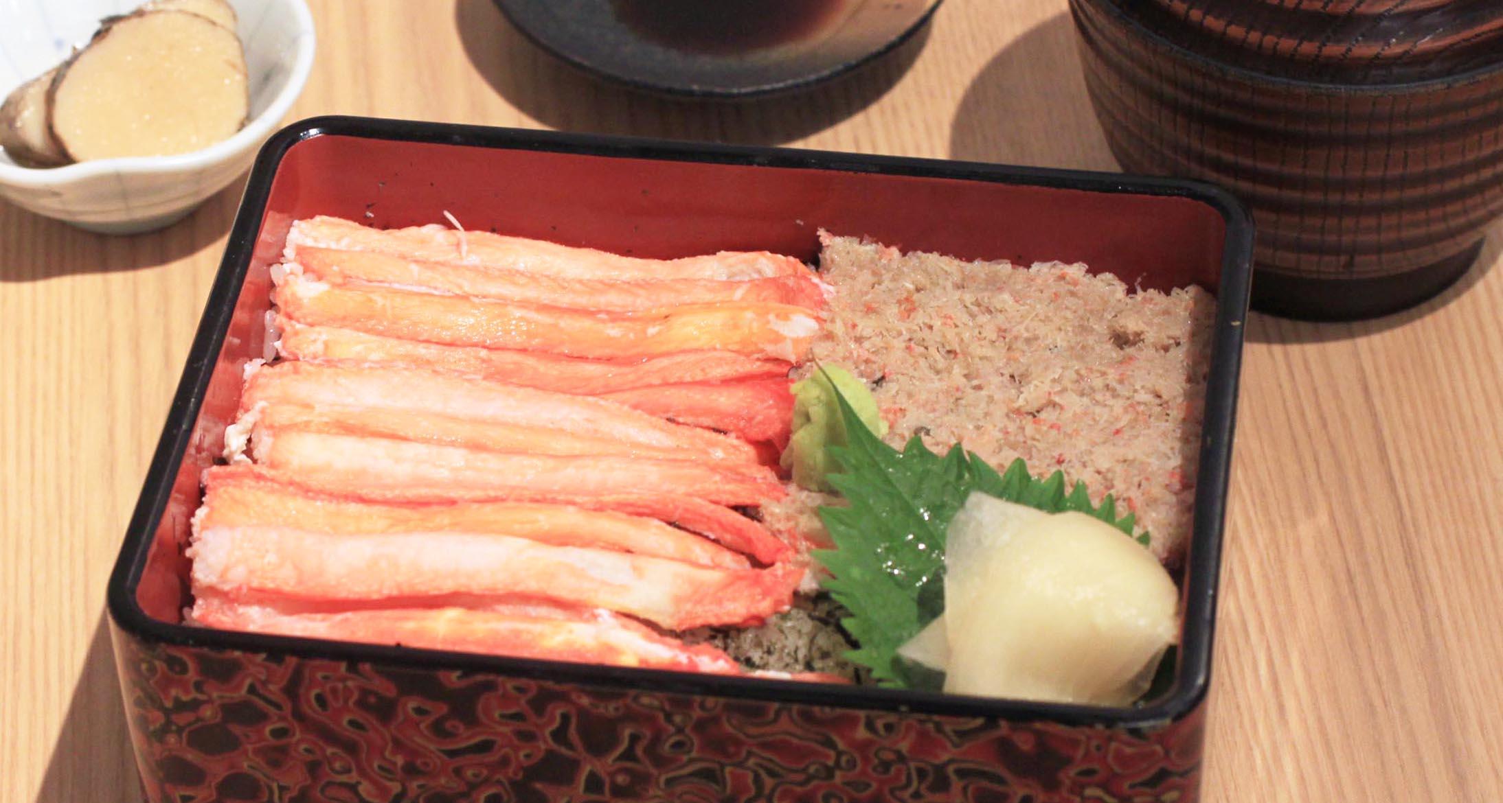 〈ランチメニュー〉紅ずわい蟹重